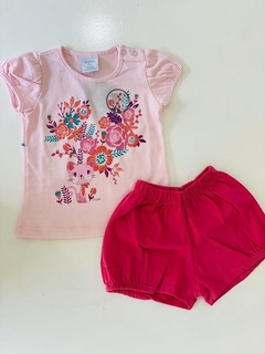 Set 2 Piezas - Remera Y Short Gato (000000000000049)