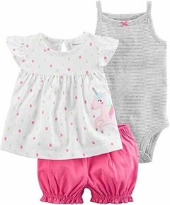 Set 3 Piezas - Remera Unicornio, Body Y Short (000000000000025)