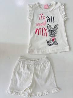 Set 2 Piezas - Remera Y Short  It´s All About Moi (000000000000047) en internet