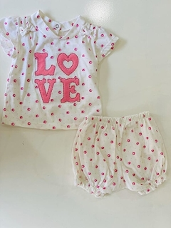 Set 2 Piezas - Bata Y Short Love (000000000000051)