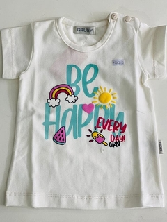 Remera Be Happy Every Day (000000000000683) - comprar online