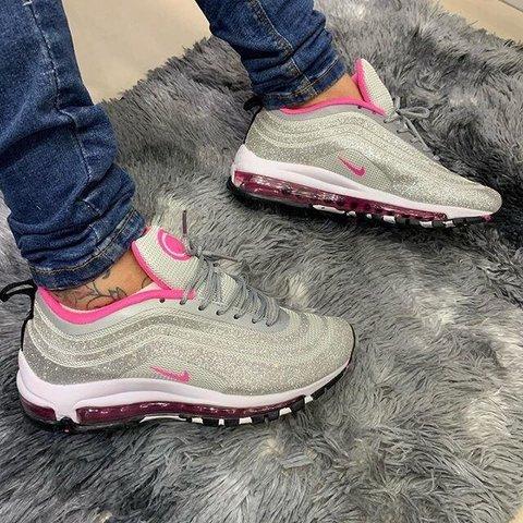 air max 97 rosa glitter