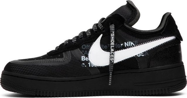 air force 1 off white black