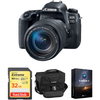 Canon Eos 77d Dslr Con Lente 18-135mm Usm + Sd 32gb + Bolso original  + Soft Luminar 4