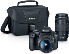 Canon Eos Rebel T7 Dslr Con Lentes 18-55mm Y 75-300mm + Kit + funda - STOCK DISPONIBLE - MarketDigital