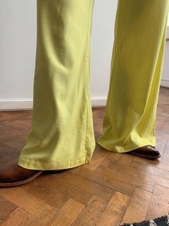 Pantalon Lino Madison Yellow - tienda online