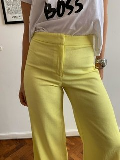 Pantalon Lino Madison Yellow - Muy Linda