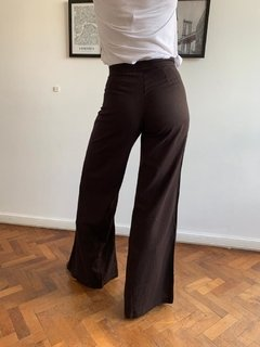 Pantalon Lino Madison Black - Muy Linda