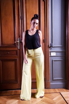 Pantalon Lino Madison Yellow
