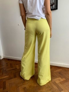 Pantalon Lino Madison Yellow en internet