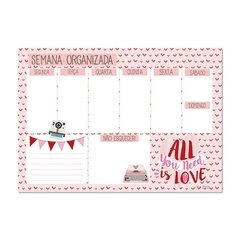 Bloco Planner semanal All you need is love