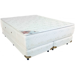 CONJ SOMMIER RESORTES 200 X 200 PILLOW RUBI DESEO CONFORT