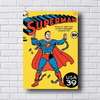 Placa decorativa estilo revista em quadrinhos antiga do Superman