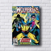 Placa decorativa estilo revista em quadrinhos antiga do Wolverine