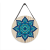 Placa Decorativa Mandala Azul