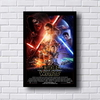 Placa decorativa com o tema da saga Star Wars