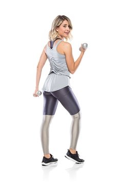 Legging Fitness Glam Perna - Grafite