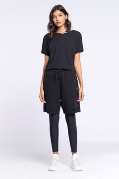 T-Shirt Cropped Antiviral - Noir Black