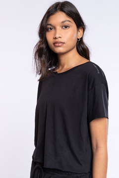 T-Shirt Cropped Antiviral - Noir Black - The Fit Brand