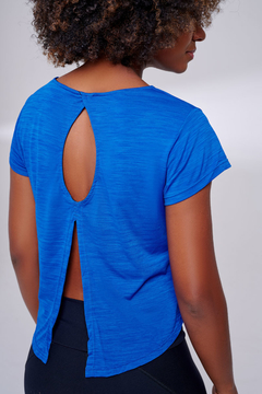 Camiseta Cropped Shake Azul - The Fit Brand
