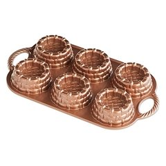 Forma Nordic p/ 6 Mini Bolos Copper Shortcake Baskets
