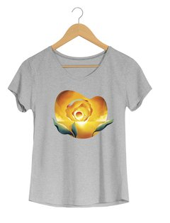 Camiseta  Feminina Brum - Sunset Ocean - Flor do Sol - Shop Cult - comprar online