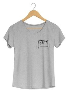 Camiseta Feminina Marina- Cat-in-box - Shop Cult