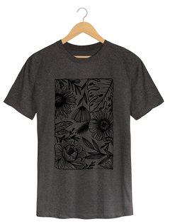 Camiseta Masculina Marina - One line many flowers - Shop Cult - Shop Cult