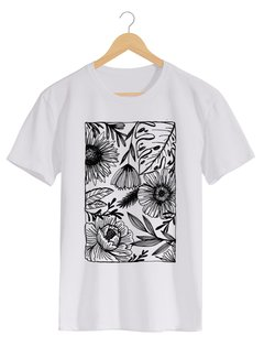 Camiseta Masculina Marina - One line many flowers - Shop Cult - comprar online