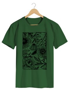 Camiseta Masculina Marina - One line many flowers - Shop Cult na internet