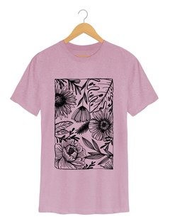 Imagem do Camiseta Masculina Marina - One line many flowers - Shop Cult