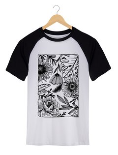 Camiseta Masculina Marina - One line many flowers - Shop Cult