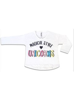 Remera UNICORNS Multicolor Blanco en internet