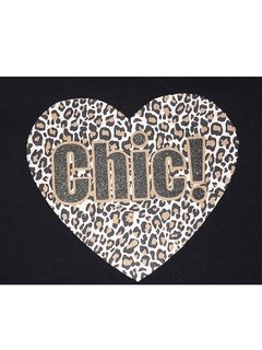 Remera Chic Mini A.Print N/Manteca en internet
