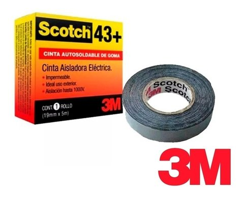 SCOTCH 43+ 19MMX5M AUTOSOLDABLE BAJA TENSION
