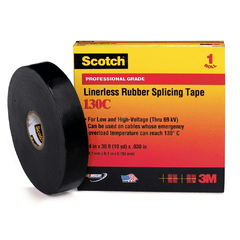 "SCOTCH 130C RUBBER TAPE 1""X9.14M"