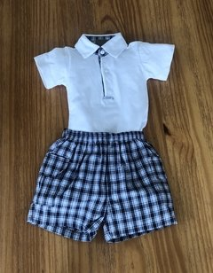 CONJUNTO BODY POLO E SHORT