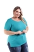 Imagem do Kit 5 Baby Look Camiseta Feminina Basica Plus Size G1 Ao G3