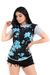 Imagem do Kit 5 T-shirts Long Line Floral Moda Feminina