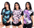 Kit 5 T-shirts Long Line Floral Moda Feminina