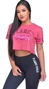 Blusa Cropped Letreiro Foil Planet Girls Verao 2020