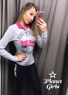 Pólo Manga Longa Estilo Hollister Planet Girls na internet
