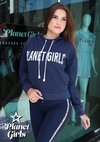 Blusa Moletom Estampa Vinie Planet Girls