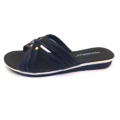 Chinelo PICCADILLY 401223 Anabela Baixo Preto - comprar online
