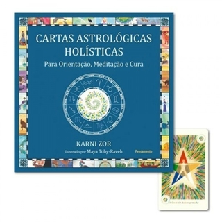 Kit Astrológico com Livro Signos do Zodíaco + Cartas Astrológicas