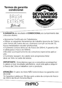 Brush Extreme Black 200ml - Primeira progressiva PRETA do mercado - comprar online