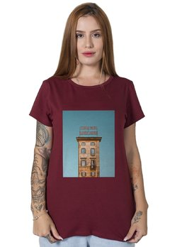 Camiseta Feminina Wish You Were Here Bordô