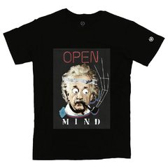 Camiseta Masculina Open Mind Collage