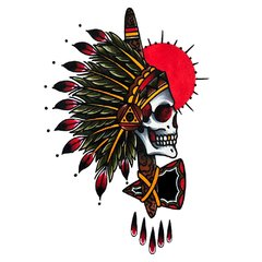 Camiseta Masculina Indian Chief Skull - comprar online