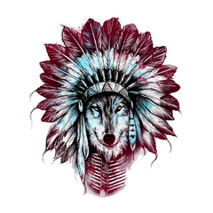 Camiseta Feminina Stoned Indian Wolf - comprar online